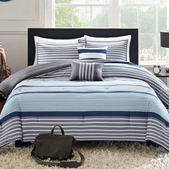 Intelligent Design Matteo Striped Comforter Set