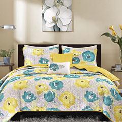 Intelligent Design Mila Floral Coverlet Set