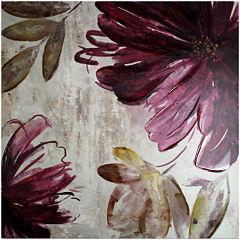 Purple Splash Embellished Canvas Wall Art