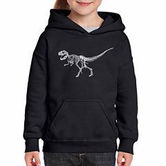 Los Angeles Pop Art Dinosaur T-Rex Skeleton Long Sleeve Sweatshirt Girls
