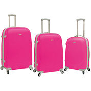 Travelers Club 3-pc. Hardside Spinner Luggage Set