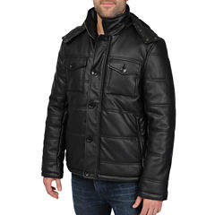 Excelled® Channel Quilt Faux-Leather Jacket–Big & Tall