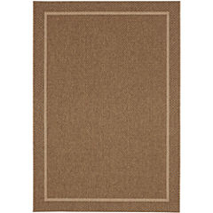 Abingdon Border Sisal-Look Indoor/Outdoor Rectangular Rugs