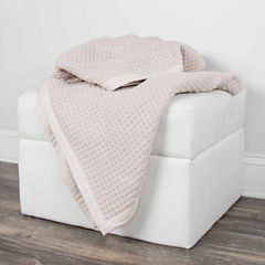 Rizzy Home Waffle Weave Pattern Reversible Throw
