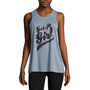 City Streets® Slit-Back Muscle Tank Top - Juniors