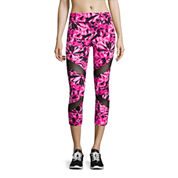 City Streets® Performance Mesh-Inset Crop Leggings - Juniors