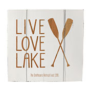 Cathy's Concepts Personalized Rustic Lake House Wooden Wall Art