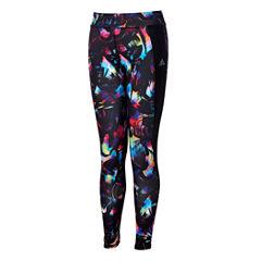 Adidas Pattern Jersey Leggings - Big Kid Girls