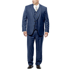 Stafford Travel Wool Blend Suit Separates-Big and Tall Fit