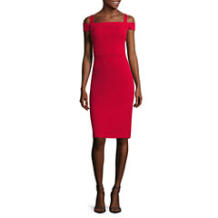 Weslee Rose Cold-Shoulder Midi Dress