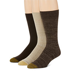 Gold Toe® 3-pk. Johnny Rib Crew Socks