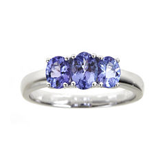 LIMITED QUANTITIES Genuine Tanzanite 3-Stone Ring