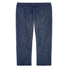 Total Girl Solid Capri Jersey Leggings - Big Kid