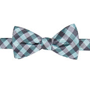 Stafford Pensacola Gingham Pre-Tied  Bow Tie