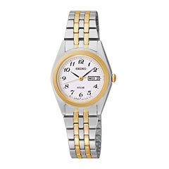 Seiko® Womens Two-Tone Solar Watch SUT116