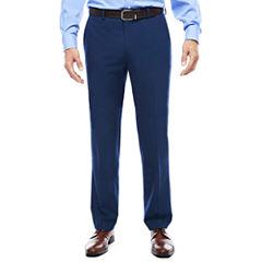 JF J. Ferrar® Blue Stretch Flat-Front Suit Pants - Slim Fit