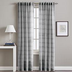 Preston Rod-Pocket Back-Tab Sheer Curtain Panel