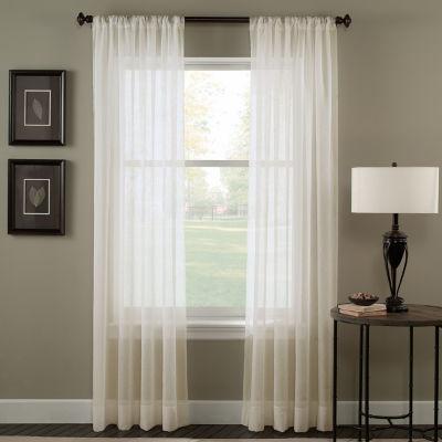 trinity sheer rodpocket curtain panel