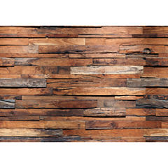 Ideal Décor Reclaimed Wood Wall Mural