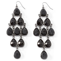 Mixit™ Faceted Jet Bead Chandelier Earrings