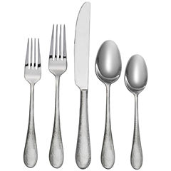 Oneida® Tibet 45-pc. Hammered Flatware Set