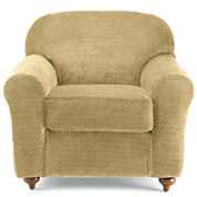 SURE FIT® Royal Diamond Stretch 2-pc. Chair Slipcover