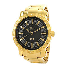 JBW 562 Mens 1/8 CT. T.W. Diamond Gold-Tone Stainless Steel Watch JB-6225-C