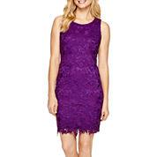 Trulli Sleeveless Lace Sheath Dress