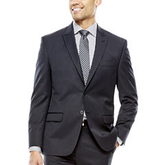 Collection by Michael Strahan Black Herringbone Suit Jacket - Classic Fit