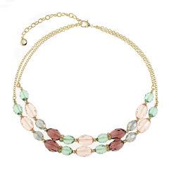 Gloria Vanderbilt Womens Multi Color Collar Necklace