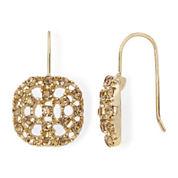 Monet® Topaz-Colored Gold-Tone Drop Earrings