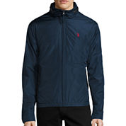 U.S. Polo Assn.® Fleece Lined Piped Jacket with Concealed Hood