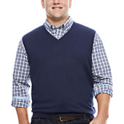 IZOD® Fieldhouse V-Neck Sweater Vest - Big & Tall