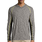 Union Bay® Long-Sleeve Tucker Raw Jersey Hoodie