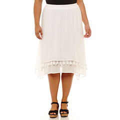 Byer California Handkerchief Skirt-Plus