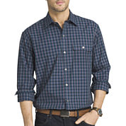 Van Heusen® Long-Sleeve Shadow-Plaid Shirt