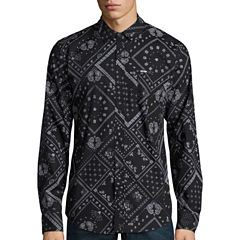 Zoo York® Patchwork Allover Long-Sleeve Woven Shirt