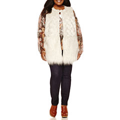 a.n.a® Faux-Fur Vest Peasant Blouse or Skinny Jeans
