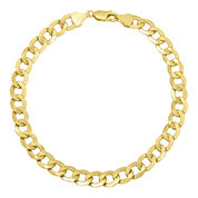 Infinite Gold™ 14K Yellow Gold Hollow Curb Chain Bracelet