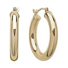 Infinite Gold™ 14K Yellow Gold Polished Hoop Earrings