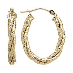 Made in Italy 14K Yellow Gold Twisted Hoop Earrings