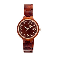 Earth Wood Nodal Red Bracelet Watch with Date ETHEW2003