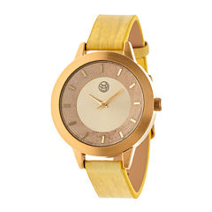 Earth Wood Autumn Yellow Strap Watch ETHEW3001