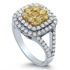 LIMITED QUANTITIES! Womens 2 CT. T.W. Round Yellow Diamond 18K Gold Engagement Ring