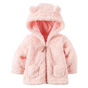 Carter's Girls Midweight Fleece Jacket-Baby