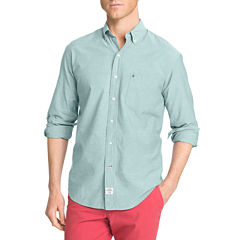 IZOD Long-Sleeve Plaid Button Front Shirt
