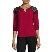 by&by 3/4-Sleeve Lace-Shoulder Peasant Blouse or Millennium Skinny Pants