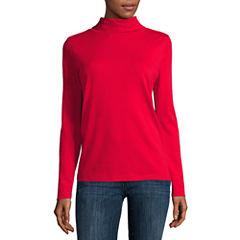 Liz Claiborne® Long-Sleeve Knit Turtleneck