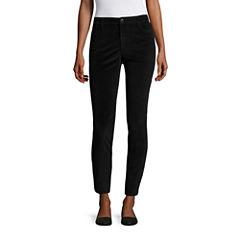 Liz Claiborne Velveteen City Fit Skinny Ankle Pants