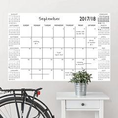 Brewster Wall White Academic Calendar 2017-18 Message Board